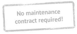 No maintenance contract required!