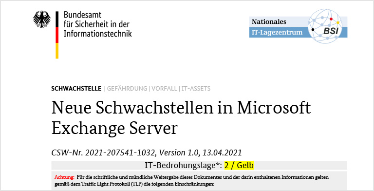 Schwachstellen in Microsoft Exchange Server